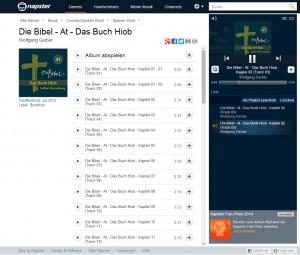 Die Bibel bei Napster, Spotify & Co. im Streaming
